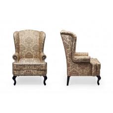 Английское кресло с ушами, молдинг бронза