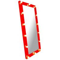 Зеркало стилиста, 180*80, красное